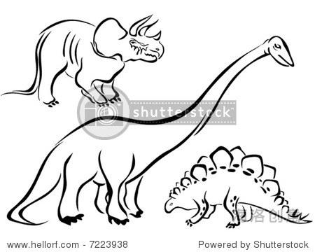 艺术线条矢量动物系列