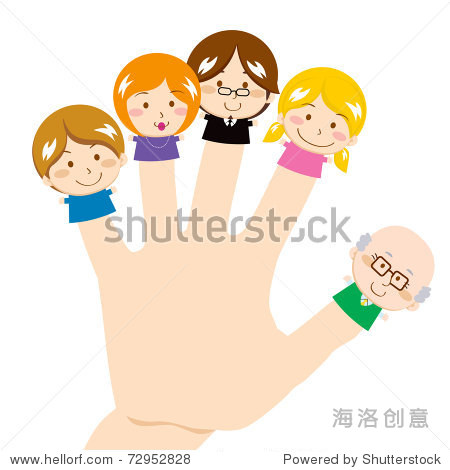 cute and sweet finger family smiling图片