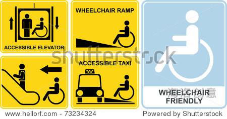 accessible taxi elevator wheelchair ramp escalator.