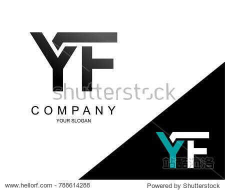 letter yf logo icon design template element图片