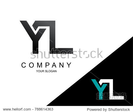 letter yl logo icon design template element图片