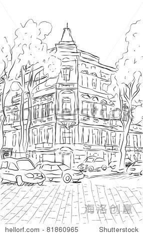 城市矢量景观 - 背景/素材,建筑物/地标 - 站酷海洛