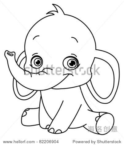 概述了小象 - 动物/野生生物,自然 - 站酷海洛创意,,.