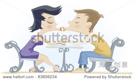 女孩和脖子接吻的表与咖啡杯-编辑,女生-站酷最强-人物男孩绳子图片