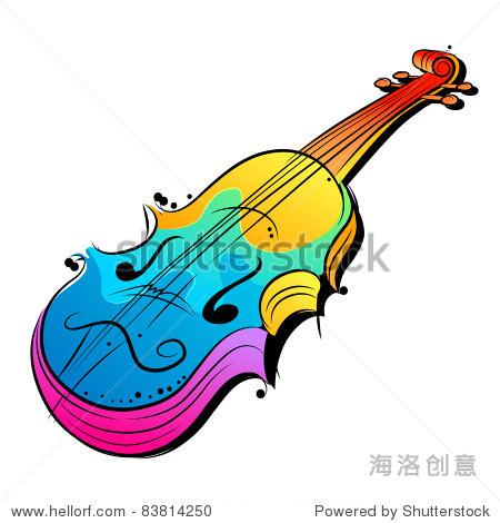 向量小提琴设计.矢量图