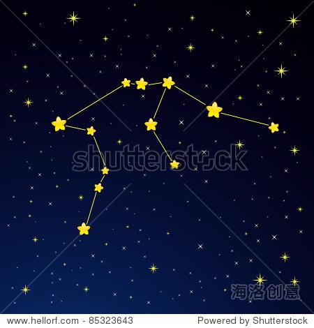 矢量图的星座水瓶座-抽象,符号/标志-海洛创意正版