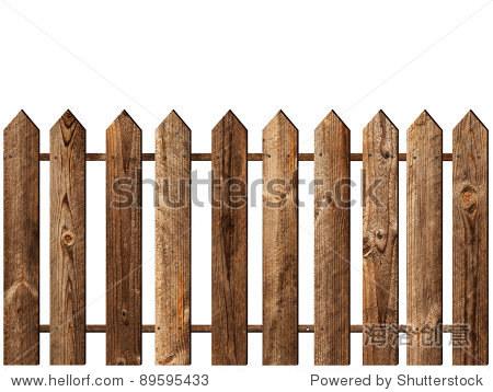 在白色背景的木栅栏-其它,物体-站酷海洛创意正版图片