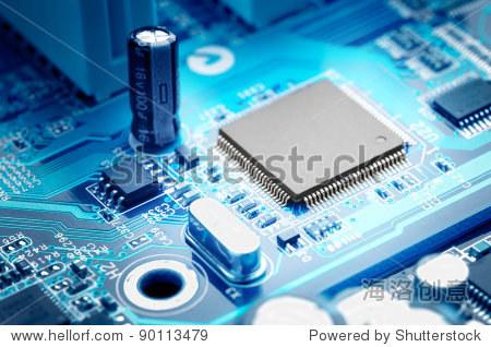 宏观图像电子电路板与处理器 - 工业,科技 - 站酷海洛