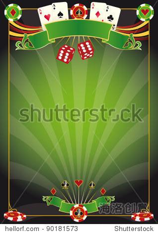 一个赌场的海报.com在世界扑克巡回赛! !