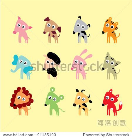 可爱的动物涂鸦