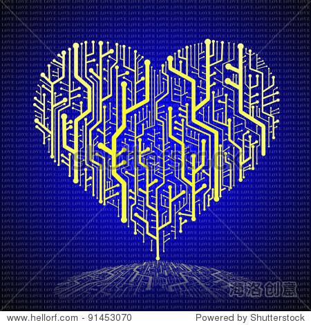 电路板在心形,技术背景