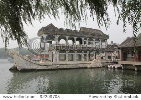 marble ship at summer palace in Beijing
