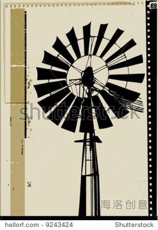 向量风车-背景/素材,插图/剪贴图-站酷海洛创意正版