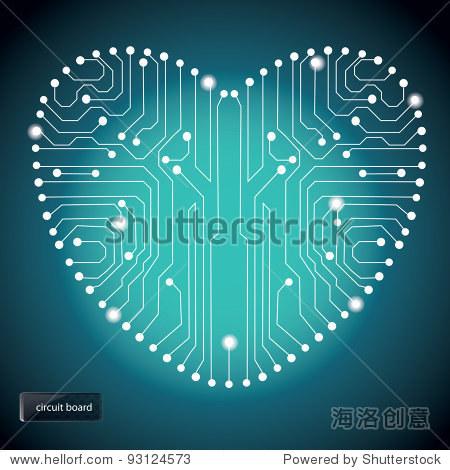 电路板的心形图案