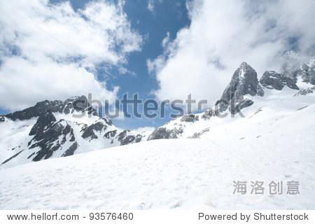 Jade Dragon snow mountain Lijiang city, Yunnan China