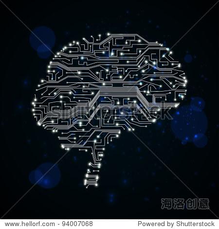 电路板的背景,技术说明,形式的大脑