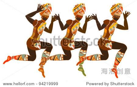 传统舞蹈由非洲妇女的民族风格 - 人物,宗教 - 站酷