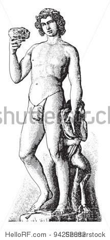 由米开朗基罗雕塑的酒神巴克斯(狄俄尼索斯)/年份从
