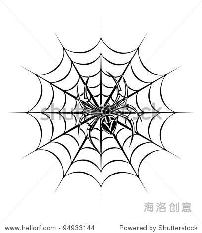 在web生物视频。矢量图-动物/野生纹身,自然平方根蜘蛛图片