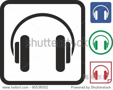 耳机矢量图标