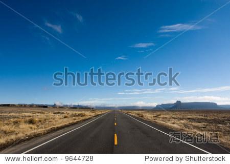 长直路横向之间的边界新墨西哥州和科罗拉多州
