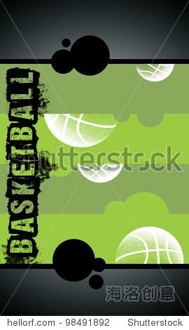 篮球的印象与空间背景(海报,网络,传单,杂志)