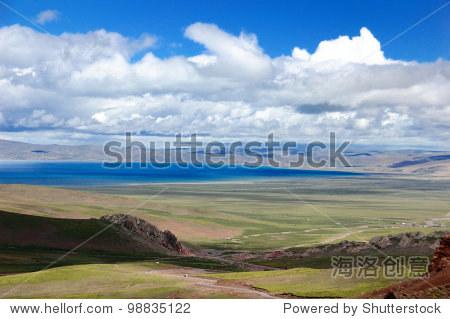 overlook namucuo lake ,the sacred lake in tibet