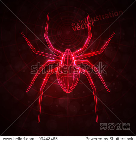 Abstract spider, technology energy vector illustration eps10