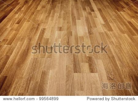 棕色的新橡木镶木地板