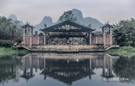 中国广西崇左明仕田园戏台