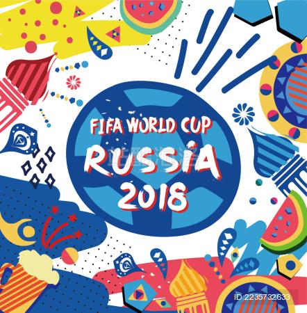 2018俄罗斯世界杯海报宣传素材