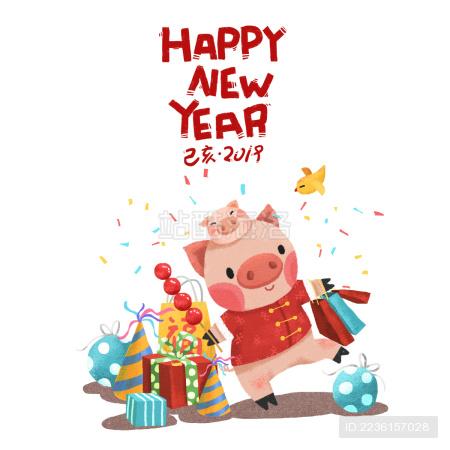 2019猪年新年图片