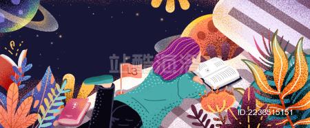 正在阅读的女人