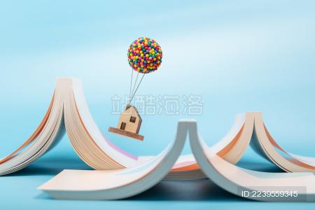 气球房子飞屋飞越书本山脉