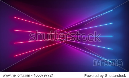 3d rendering  glowing lines  neon lights  abstract psychedelic background  ultraviolet  pink blue vibrant colors