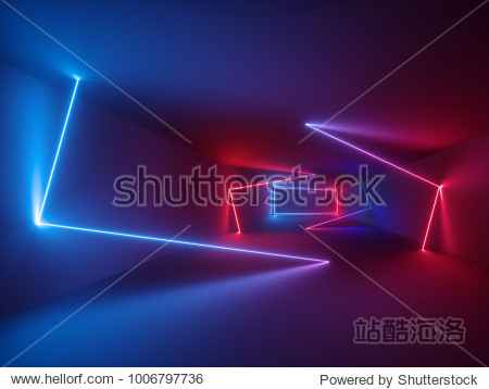 3d rendering  glowing lines  neon lights  abstract psychedelic background  ultraviolet  vibrant colors