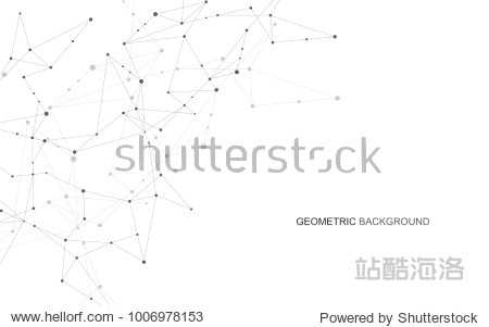 Abstract connecting dots and lines. Connection science and technology background. Vector illustration