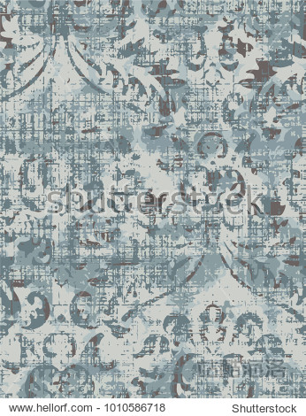 Vector  detailed abstract texture or grunge ;  For art texture  vintage  ethnic   modern damask pattern   carpet  rug   scarf  clipboard   shawl pattern. colors are blue and beige