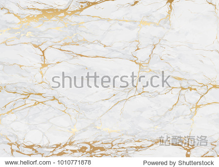 Marble with golden texture background vector illustration