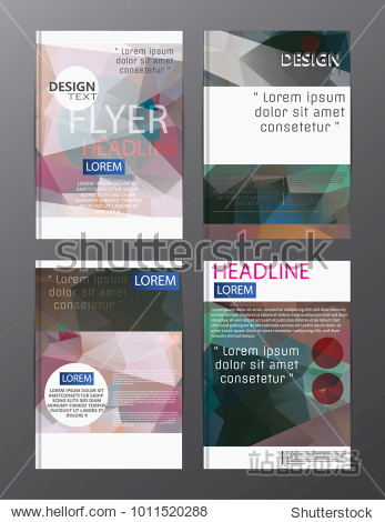 flyer design business annual report brochure template. cover presentation abstract background for business  magazines
