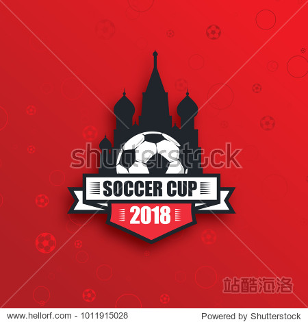 vector illustration. logo football. sportive modern background.