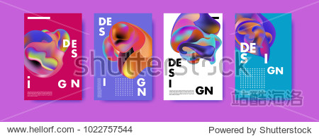 Abstract colorful liquid and curvy colors background for poster design. Blue  yellow  red  orange  pink and green. Vector banner poster template in Eps10.