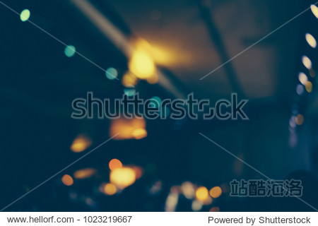 Defocused entertainment concert lighting on stage  blurred disco party and Concert Live