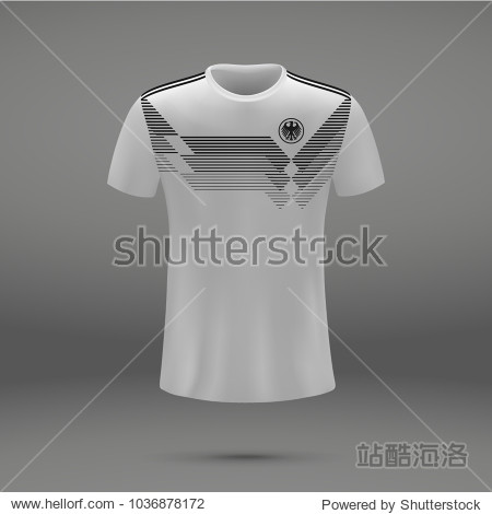 football kit of Germany 2018  shirt template for soccer jersey. Vector illustration