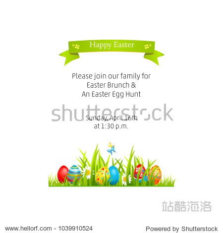 Isolated Template Easter illustration