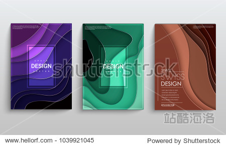 Abstract vector layout background set. For art template design  list  front page  mockup  brochure  banner  cover  booklet  print  flyer  book  blank  card. Color squares.
