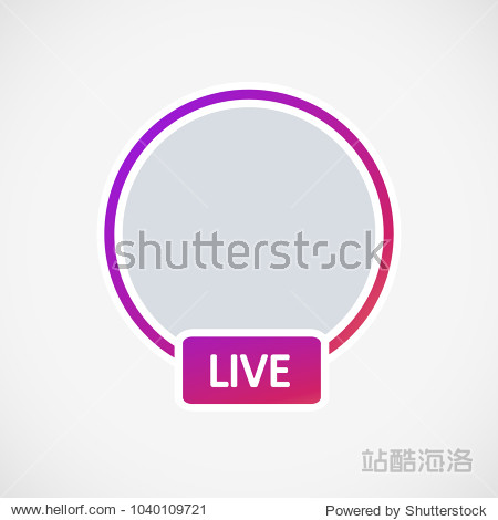 Social media Instagram icon avatar stories user LIVE video streaming colorful gradient. EPS 10