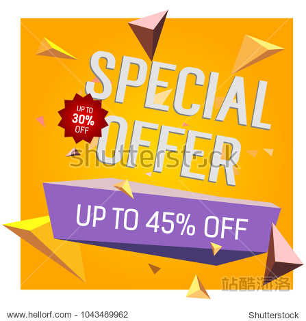 Special Offer Up to Forty Five Percent Off lettering. Typed text  calligraphy. For posters  banners  leaflets and brochures.