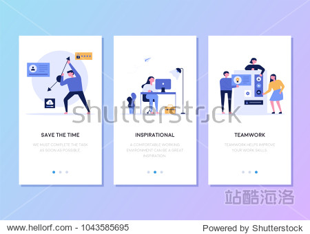 mobile app templates concept vector illustration flat design