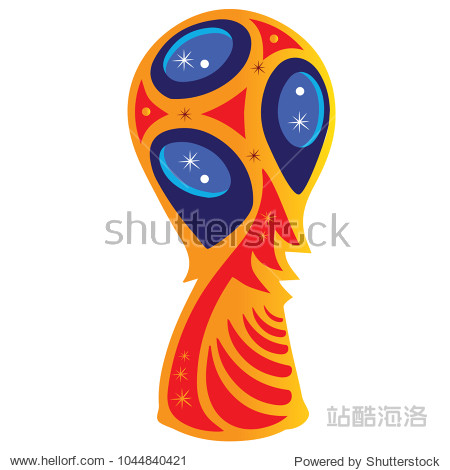 Trophy for games  red  yellow and blue   vector